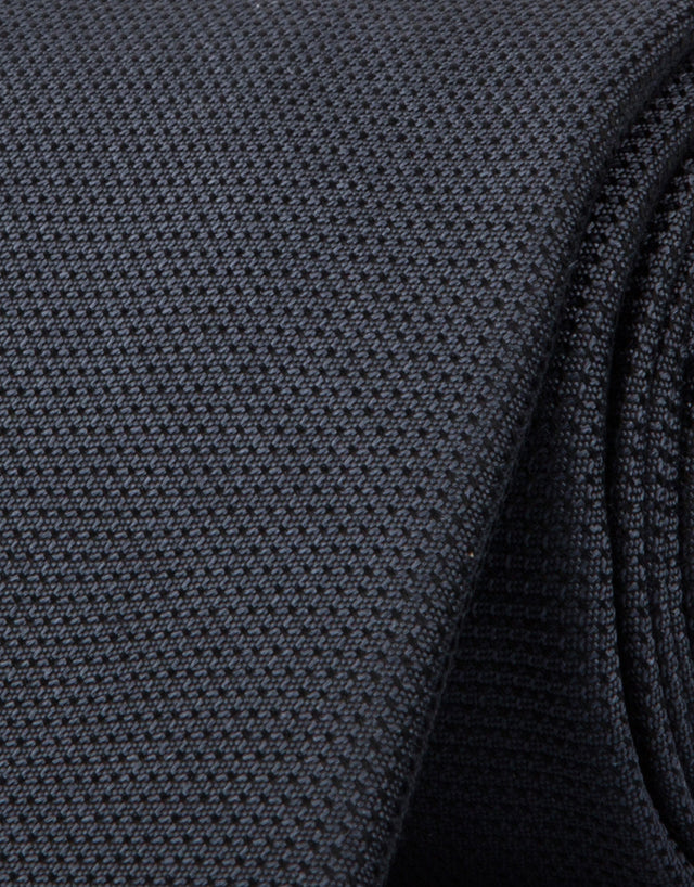 Plain Charcoal Silk Tie