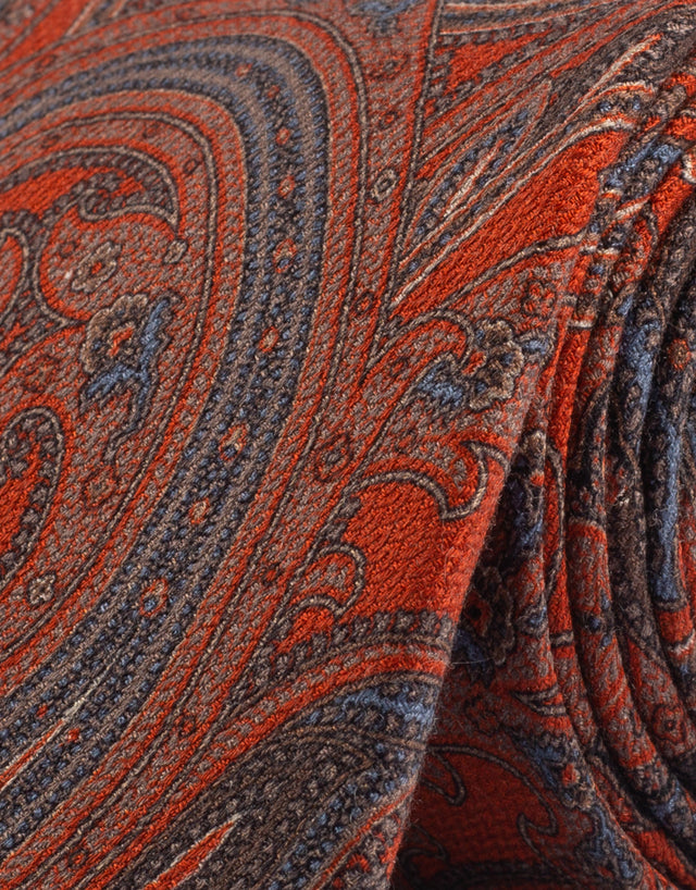 Orange paisley tie
