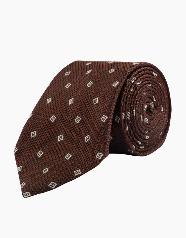 Chocolate geometric tie
