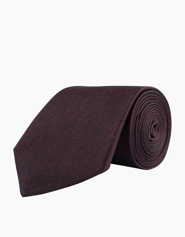 Red & navy silk tie