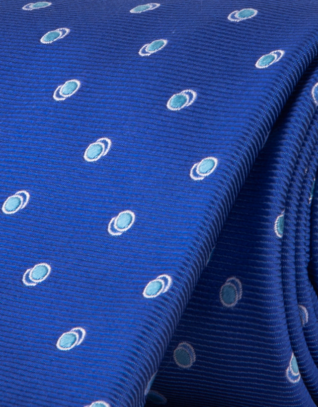 Blue dot silk tie