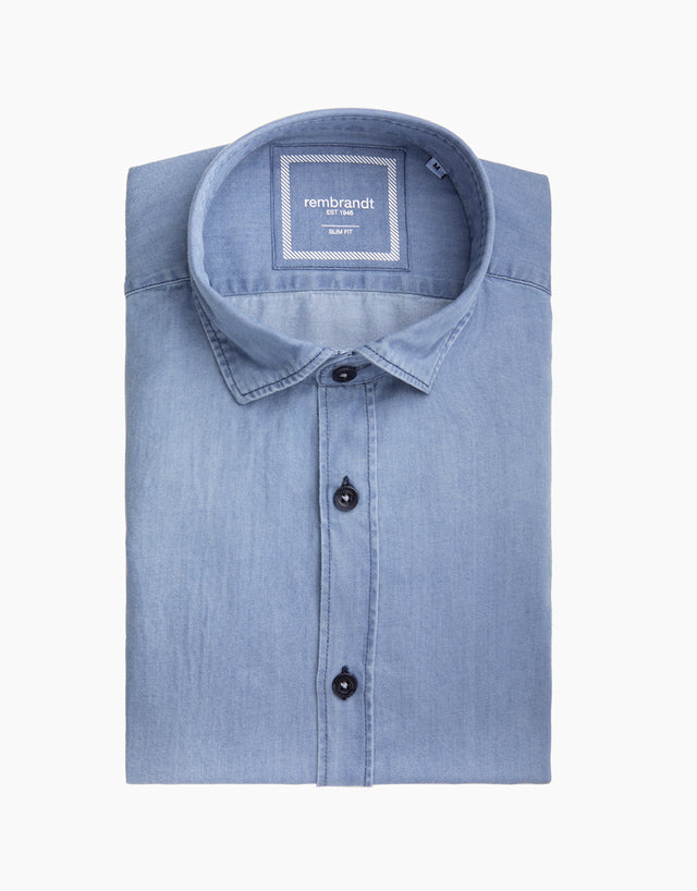 Alfred Pale Blue Denim Shirt