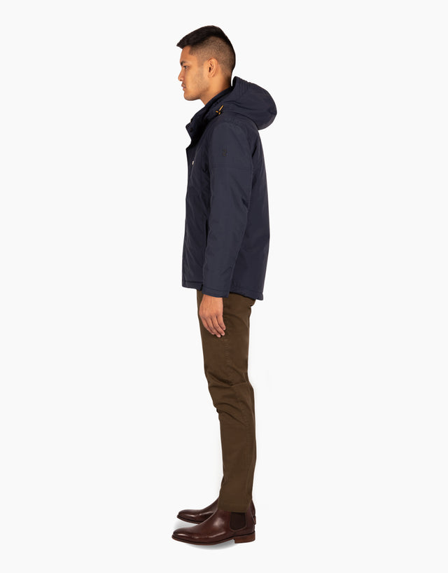 Calamar navy hooded jacket