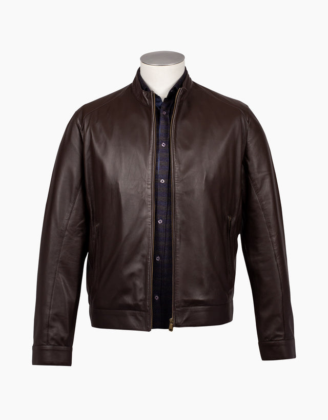 Marlon chocolate leather jacket