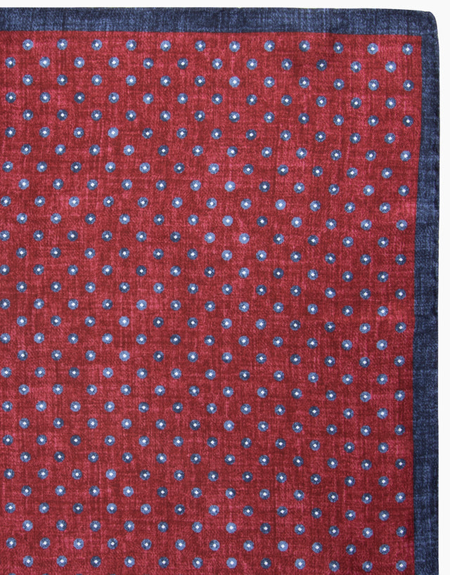 Maroon Dot Pocket Square