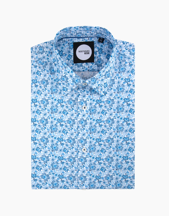 Brooklyn Light Blue Floral Shirt