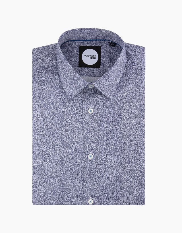 Brooklyn Blue Printed Shirt