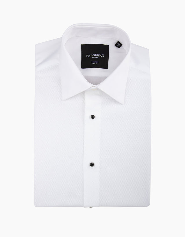 Avonmore White Stud Front Formal Shirt