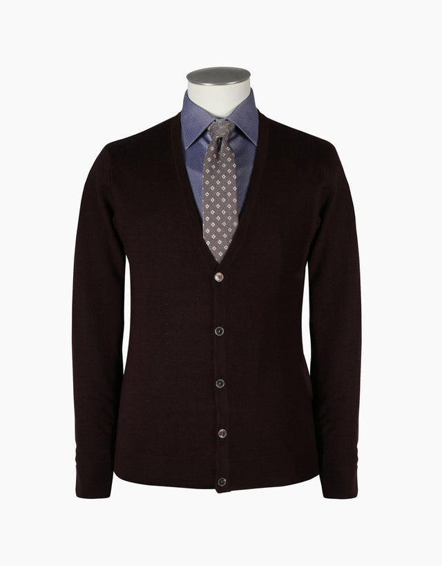 Kingston Dark Brown Cardigan