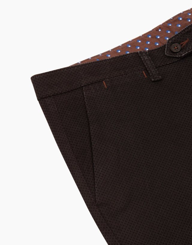 Soho Black Print Casual Chinos