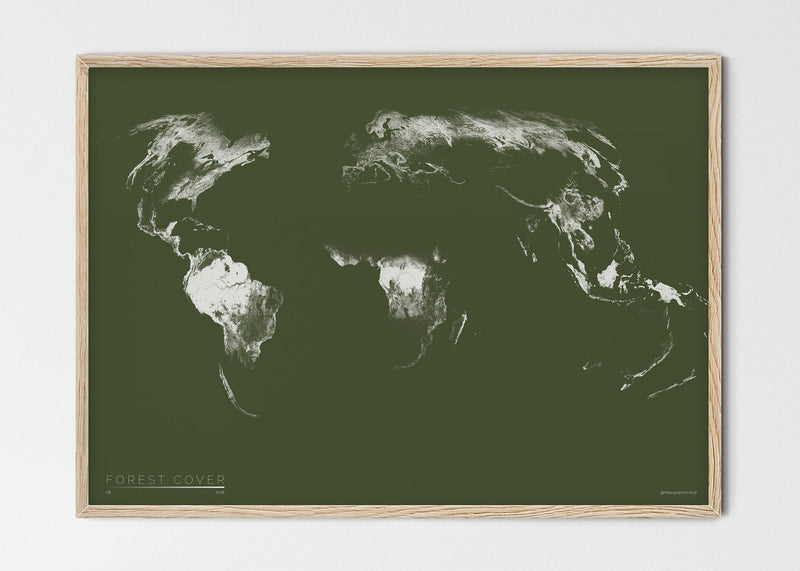 "THE WORLD AS FOREST Mapographics Print Material FOREST_COVER_LARGE10 / Small title / 100x70 cm (39.37x27.56"")"