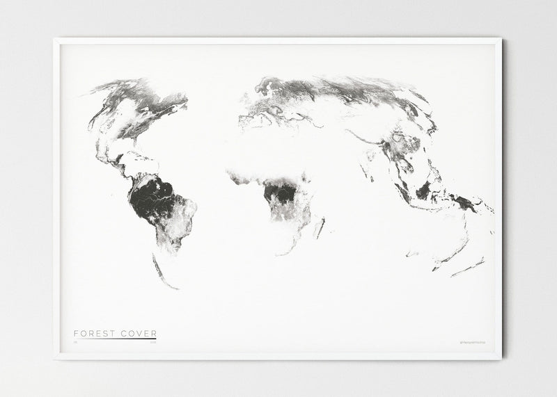 "THE WORLD AS FOREST Mapographics Print Material FOREST_COVER_LARGE4 / Small title / 100x70 cm (39.37x27.56"")"