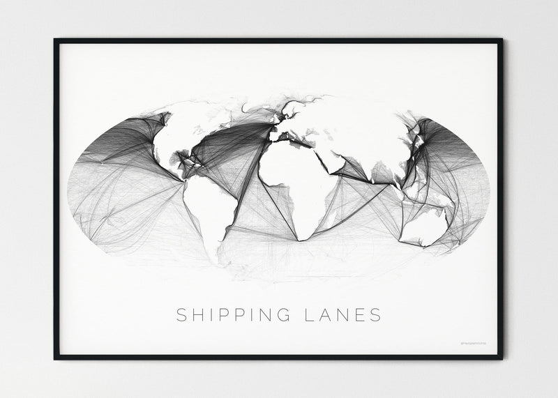 THE WORLD AS SHIPPING ROUTES