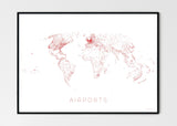 THE WORLD AS AIRPORT DENSITY