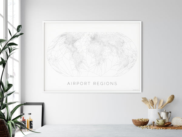 THE WORLD AS AIRPORT LOCATION Mapographics Print Material