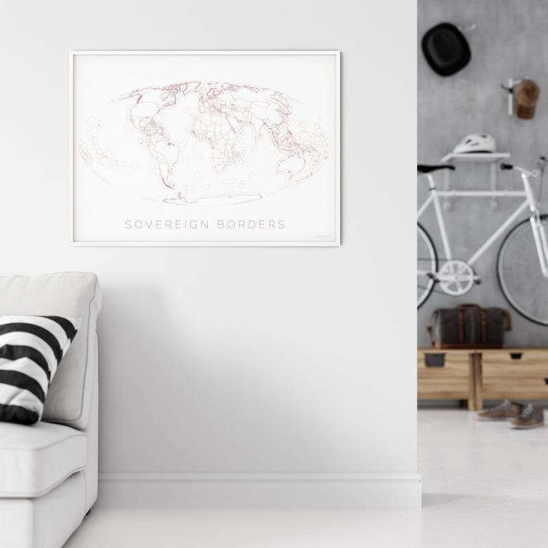 THE WORLD AS SOVEREIGN BORDERS Mapographics Print Material