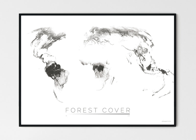 "THE WORLD AS FOREST Mapographics Print Material FOREST_COVER_LARGE4 / Large title / 100x70 cm (39.37x27.56"")"