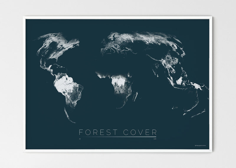 "THE WORLD AS FOREST Mapographics Print Material FOREST_COVER_LARGE9 / Large title / 100x70 cm (39.37x27.56"")"