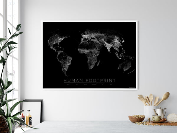 THE WORLD AS HUMAN FOOTPRINT Mapographics Print Material