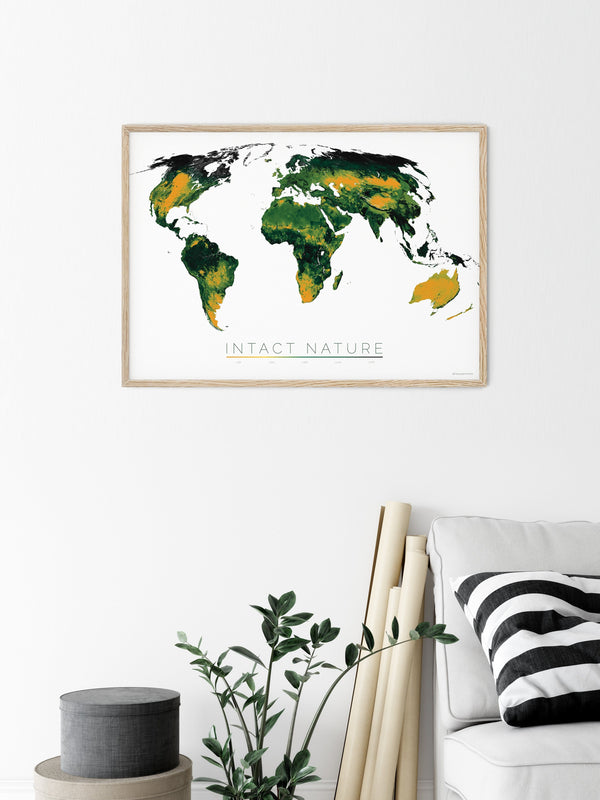 THE WORLD AS THE STATUS OF BIODIVERSITY Mapographics Print Material