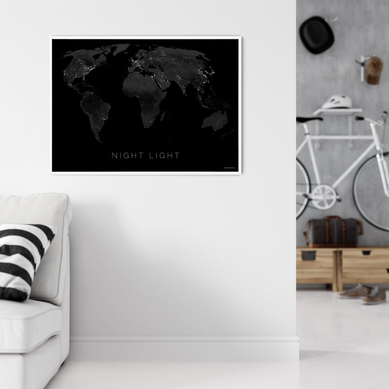 THE WORLD BY NIGHT LIGHT Mapographics Print Material