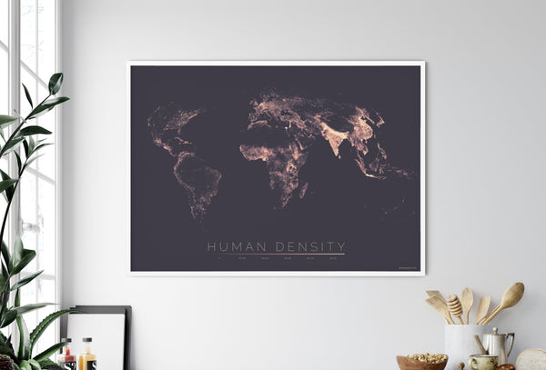 THE WORLD AS POPULATION DENSITY Mapographics Print Material