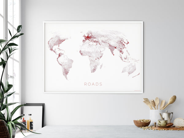 THE WORLD AS ROADS Mapographics Print Material