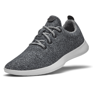 Men's Wool Runners - Natural Grey (Light Grey Sole)