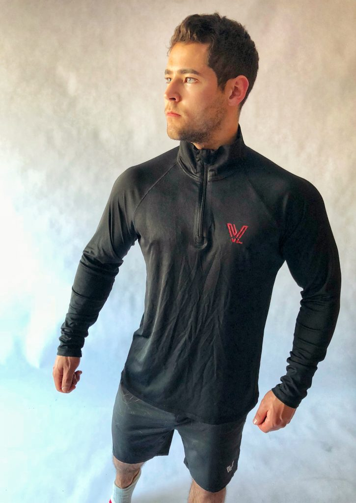 Men Quarter-Zip Lightweight Pullover