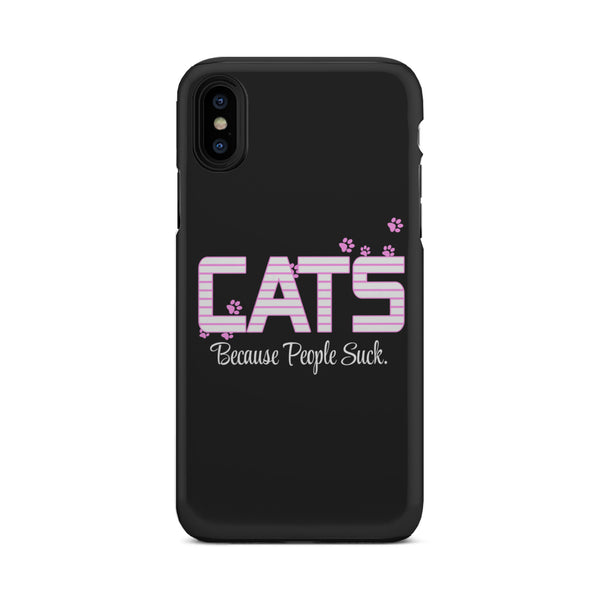 I choose Cats Because People Suck Tough Phone Cases