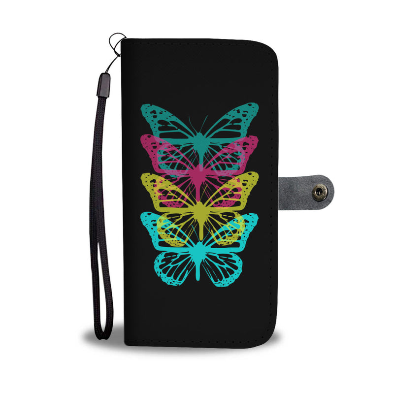 Butterfly Rainbow Wallet Cases