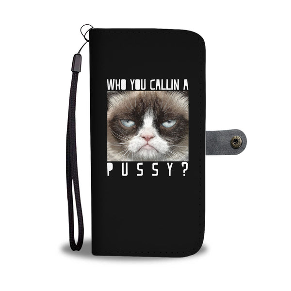 The Mean Cat Wallet Cases