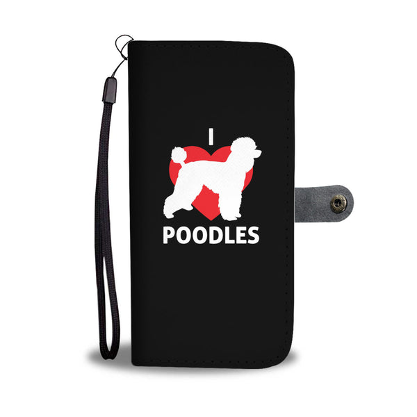 I Love Poodles Wallet Cases