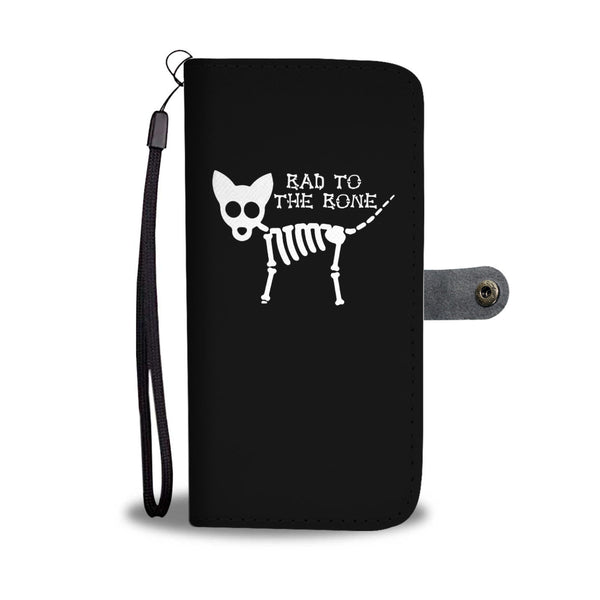 Bad To The Bone Cat Skull Wallet Cases
