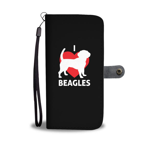 I Love Beagles Wallet Cases