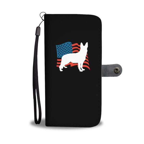 Love USA German Shepherd Wallet Cases