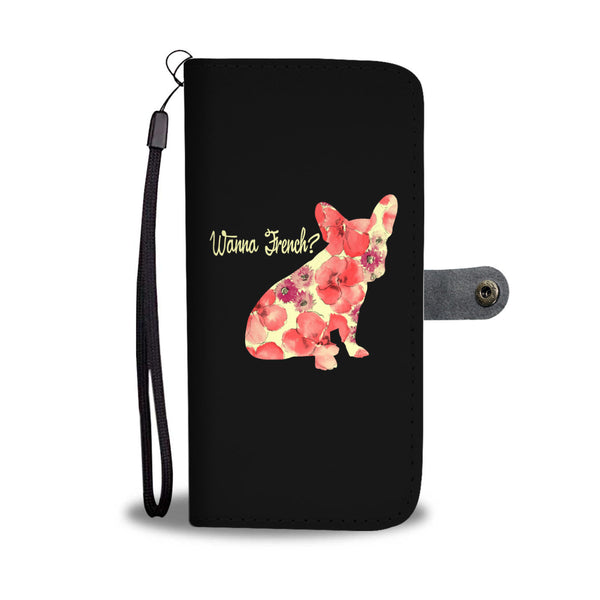 Frenchie Floral Love Pups Wallet Cases