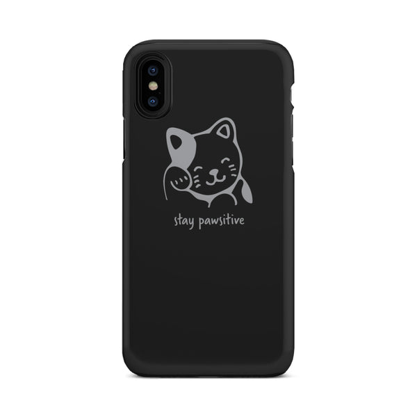 Stay Pawsitive Tough Phone Case