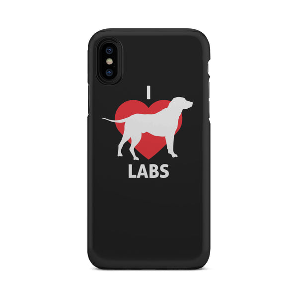 I Love Labs Tough Phone Case