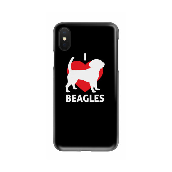 I Love Beagles Slim Phone Case