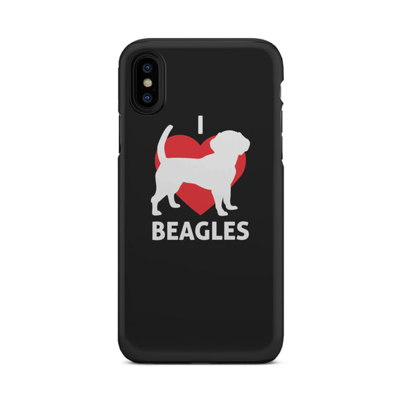 I Love Beagles Tough Phone Case