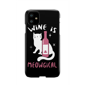 Wine is Meowgical  Slim Phone Cases