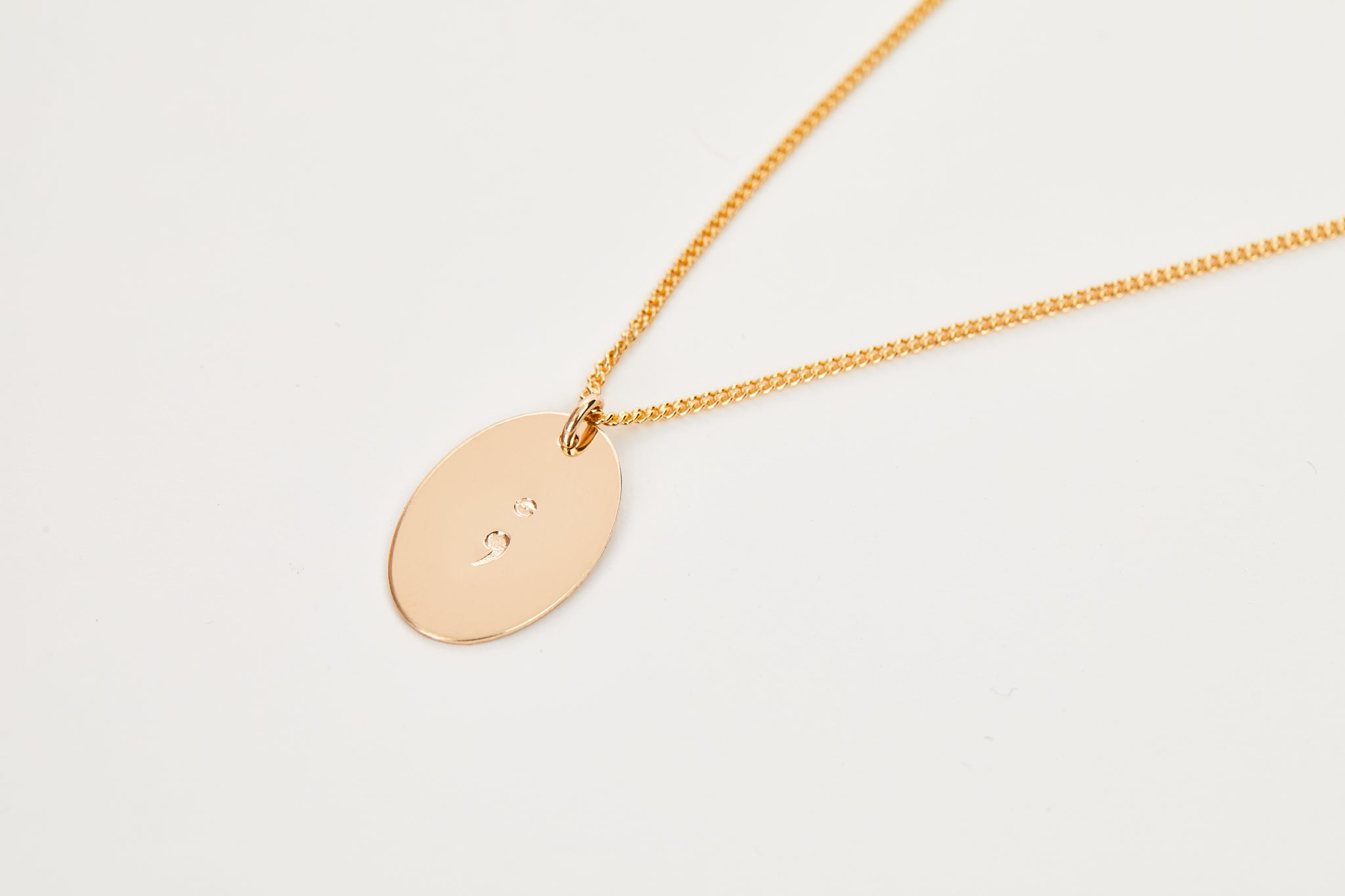 The Semicolon Necklace