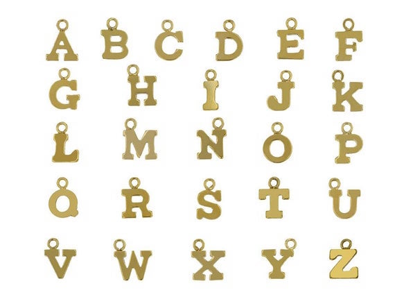 Alphabet Letter Individual Charm
