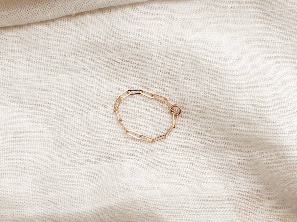Rectangle Linked Chain Ring