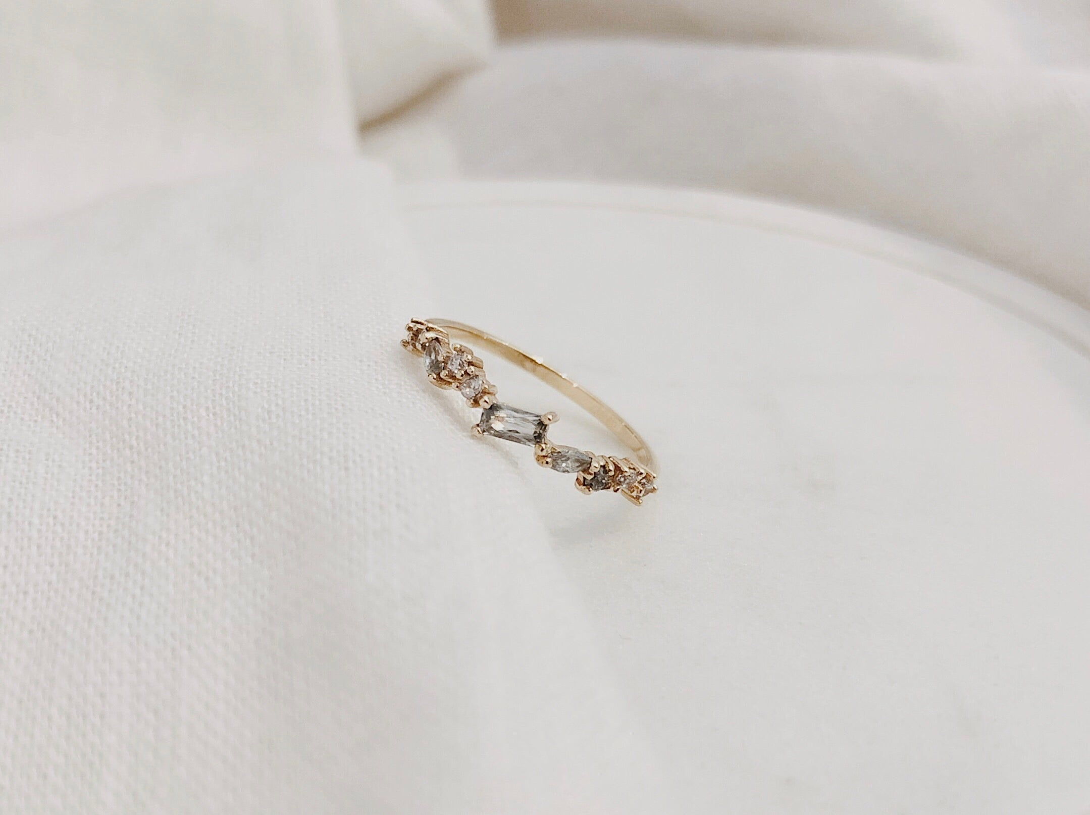 Solid Gold Cluster Ring