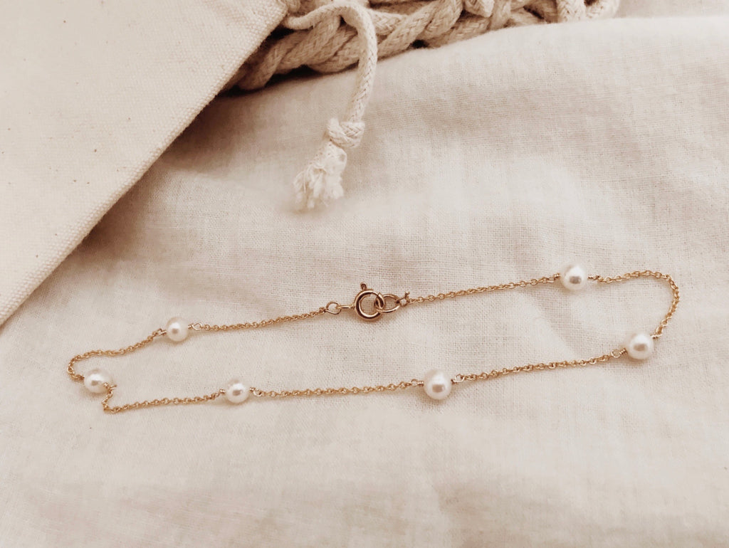 Pearl Linked Anklet