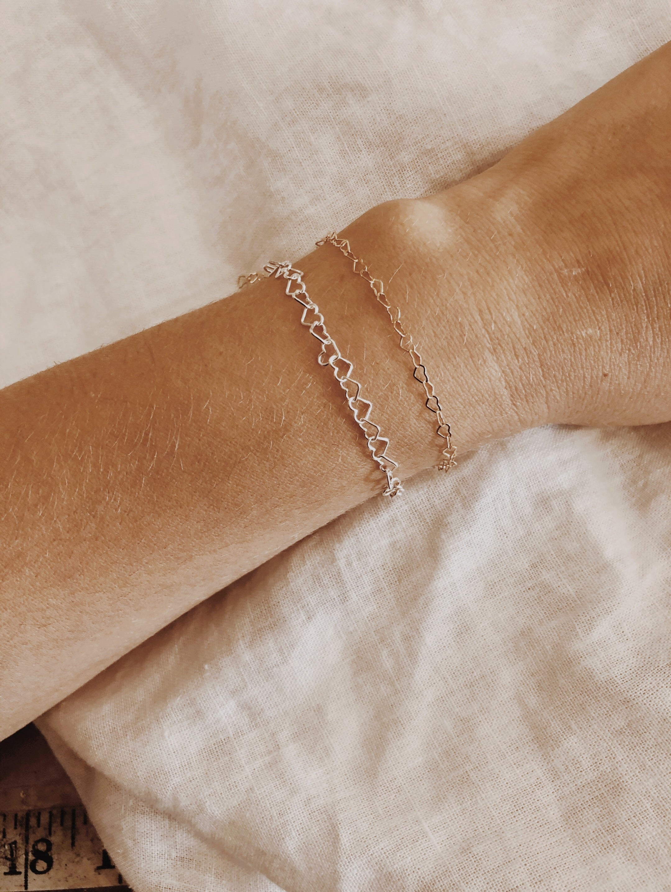 Heart Linked Bracelet