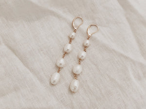 Dangling Pearl Earrings (Small)