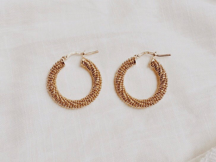 Chunky Beaded Hoops
